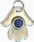 "Judaic symbol ""Hamsa"" charm pendant, 16"" chain - Museum Shop Collection - Museum Company Photo"
