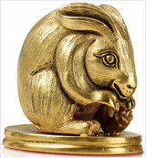 Easter Bunny Paperweight in 3 dimensions - Museum Shop Collection - Museum Company Photo