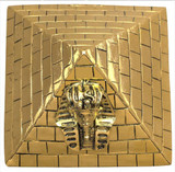 Pyramid paperweight with King Tut image - Museum Shop Collection - Museum Company Photo