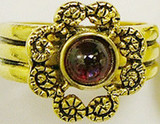 Greek motif open ring, garnet - Museum Shop Collection - Museum Company Photo