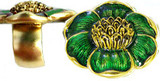 Ring with enameled floral motif, Green - Museum Shop Collection - Museum Company Photo