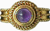 Victorian rope ring with amethyst - Museum Shop Collection - Museum Company Photo