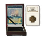 Genuine Admiral Gardner Shipwreck Treasure Coin NGC Certified Slab Box (High grade) : Authentic Artifact - Museum Company Photo