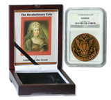 Genuine Catherine the Great 1776: Russian 5 Kopek in NGC-Certified Slab Box (High grade) : Authentic Artifact - Museum Company Photo