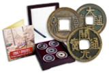 Genuine China 5 Dynasties Box: Twenty Centuries of Cash Coins : Authentic Artifact - Museum Company Photo