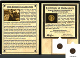 Genuine Gladiator: Roman Coin of Emperor Constantius II Album  : Authentic Artifact - Museum Company Photo