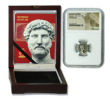 Genuine Hadrian Roman Silver Denarius NGC Certified Slab Box (Low grade) : Authentic Artifact - Museum Company Photo