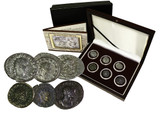 Genuine The Fracture of Imperial Rome: Gallic Empire, a Box of 6 Silver Coins  : Authentic Artifact - Museum Company Photo