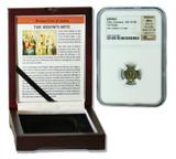 Genuine Widow's Mite Judaea Bronze Prutah NGC Certified Slab Box (High Grade) : Authentic Artifact - Museum Company Photo