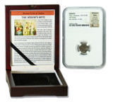 Genuine Widow's Mite Judaea Bronze Prutah NGC Certified Slab Box (Medium Grade) : Authentic Artifact - Museum Company Photo