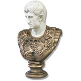 Gaius Julius Caesar Augustus With Armor - Two Tone Bust - Museum Replicas Collection Photo