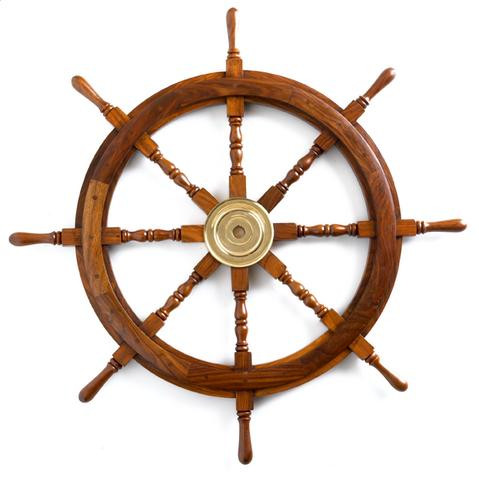Ship's Wheel (Solid Hardwood) - the ultimate nautical gift - Photo Museum Store Company