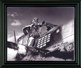 WWII - American Fighter Ace Commander Alex Vraciu Autographed Photo Framed - Photo Museum Store Company