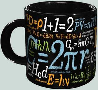 Math Mug - Famous Formula & Equations Mug - Photo Museum Store Company