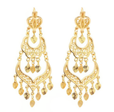 Museum Company Triple Drop Gold Filigree Chandelier Earrings - Museum Store Company Photo
