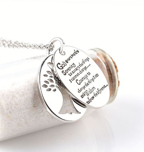 Museum Company Double Serenity Prayer Pendant - Inspirational - Museum Store Company Photo