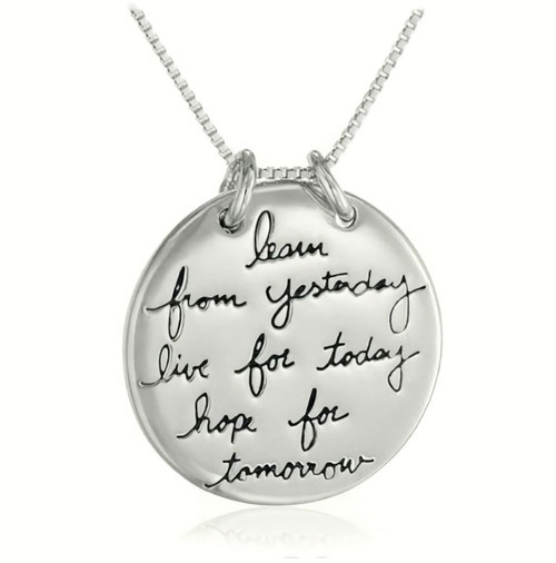 Museum Company Learn, Live & Hope Pendant - Inspirational Jewelry - Museum Store Company Photo