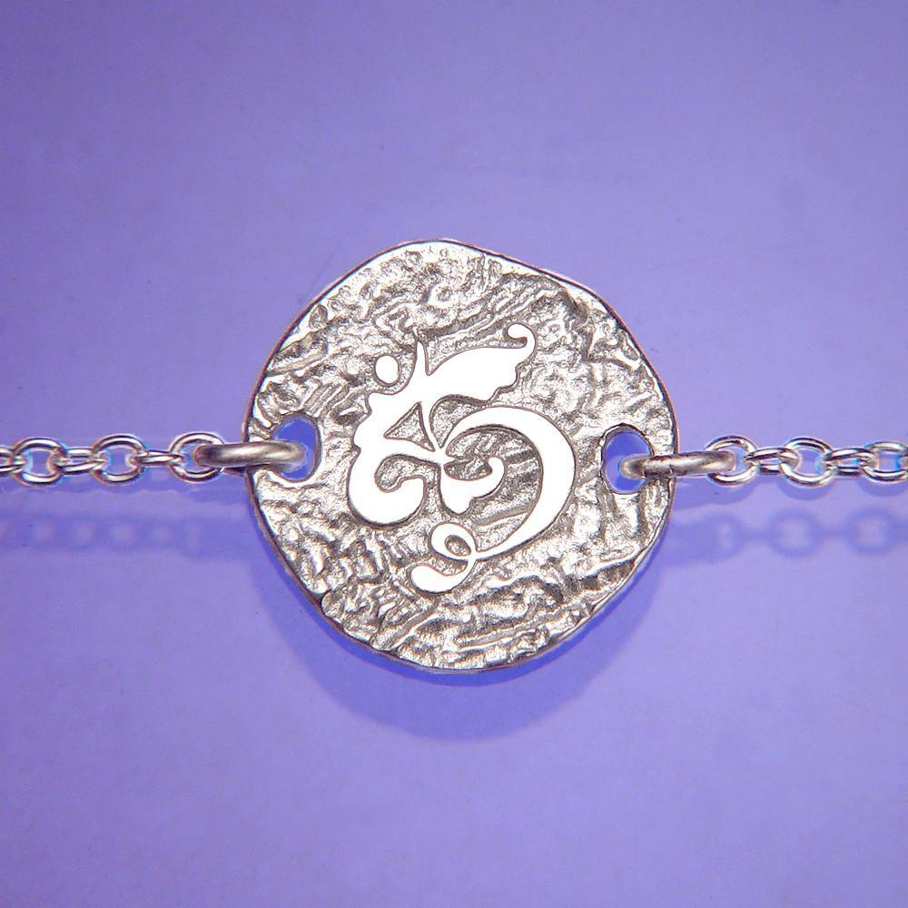 Om Symbol Sterling Silver Bracelet Inspirational Jewelry