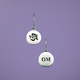 Petite Om Sterling Silver Earrings - Inspirational Jewelry Photo