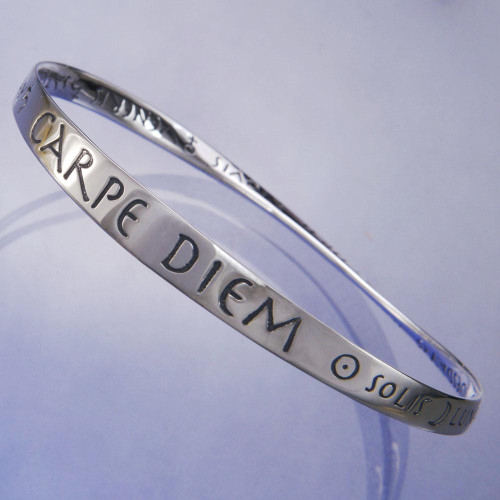 Seize The Day Sterling Silver Bracelet - Inspirational Jewelry Photo