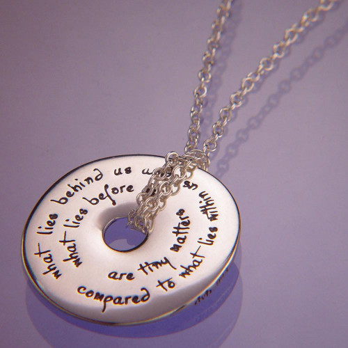 What Lies Within Sterling Silver Necklace - Inspirational Jewelry Photo