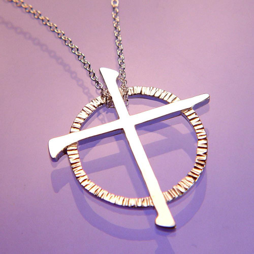 Celtic Cross Sterling Silver Necklace - Inspirational Jewelry Photo
