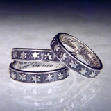 English: Many Are The Starrs I See Sterling Silver Ring - Inspirational Jewelry Photo