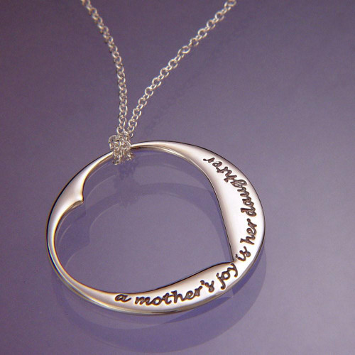 A Mother's Joy Sterling Silver Necklace - Inspirational Jewelry Photo