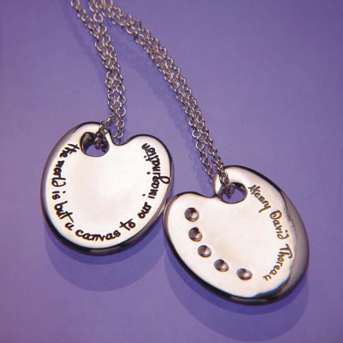 Thoreau palette sterling silver necklace inspirational jewelry thoreau palette sterling silver necklace inspirational jewelry photo mozeypictures Choice Image