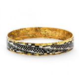 Black Checkers Bangle - Museum Jewelry - Museum Company Photo