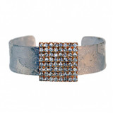 Crystal Tile Cuff - Silver - Museum Jewelry - Museum Company Photo