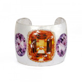 Citrine and Amethyst Cuff - Silver - Museum Jewelry - Museum Company Photo