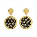 Black & White Stars Disc Earrings - Museum Jewelry - Museum Company Photo