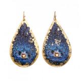 Blue Clam Teardrop Earrings - Museum Jewelry - Museum Company Photo