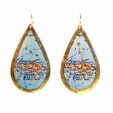 Bali Map Teardrop Earrings - Museum Jewelry - Museum Company Photo