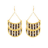 Black & White Double Crescent Earrings - Museum Jewelry - Museum Company Photo