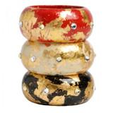 Island Bangles - Black, Cream, Red - Museum Jewelry - Museum Company Photo