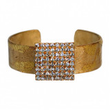 Crystal Tile Cuff - Gold - Museum Jewelry - Museum Company Photo