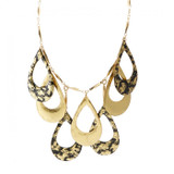 Athena Necklace - Black and Gold - Museum Jewelry - Museum Company Photo