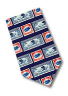 Museum Designs Stamps Necktie - Photo Museum Store Company