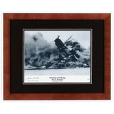 USS Arizona Day of Infamy Photograph Signed by Survivor Glenn Lane - Photo Museum Store Company