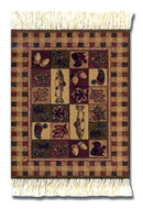 Woolrich Woodlands Coaster Rug Set: The Woolrich Collection Coasters Set of Four - Photo Museum Store Company