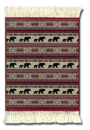 Woolrich Red Rock Bears CoasterRug: The Woolrich Collection Coaster Set of Four - Photo Museum Store Company