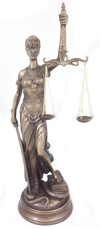 Blind Lady of Justice Statue (Themis) : Perfect for Every Attorney, Lawyer & Judge - Photo Museum Store Company