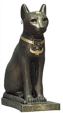 Egyptian Cat Bastet - Egyptian Museum, Cairo. 550 B.C. - Photo Museum Store Company