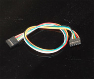 "6-pin female to female jumper wires with 0.1"" spacing"