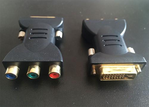 Male DVI to RCA Female Converter