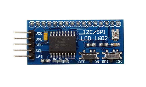 SPI/I2C Serial 16x2 Character LCD Backpack
