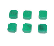 6 x Breadboard of 35 holes for Combined Breadboards: Green