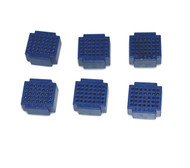 6 x Breadboard of 35 holes for Combined Breadboards: Blue